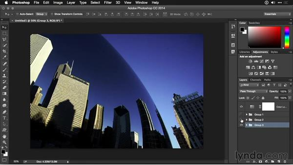Synchronizing multiple images with lookup tables: Photoshop CC Adjustment Layer and Blend Mode Workshop