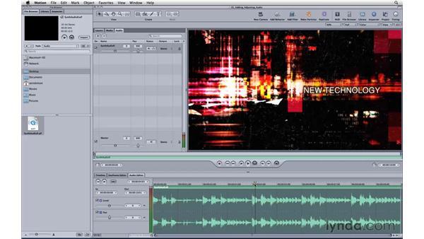 Adding and adjusting audio: Motion 3 Essential Training