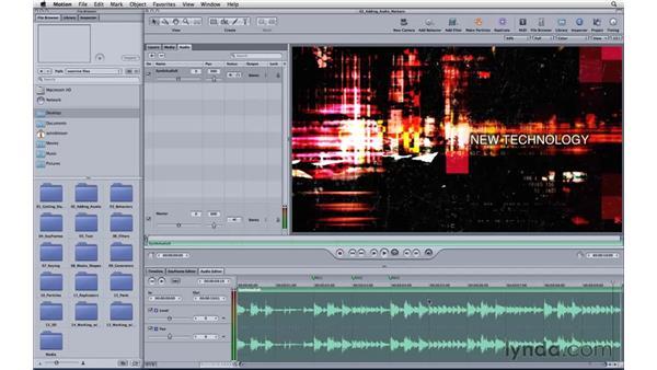 Adding audio markers: Motion 3 Essential Training