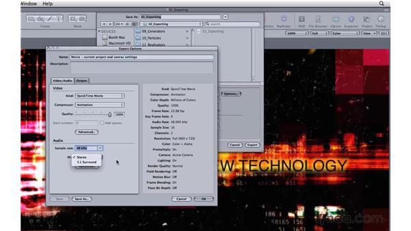 Exporting files: Motion 3 Essential Training