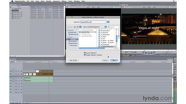 Roundtripping between Motion and Final Cut Pro: Motion 3 Essential Training
