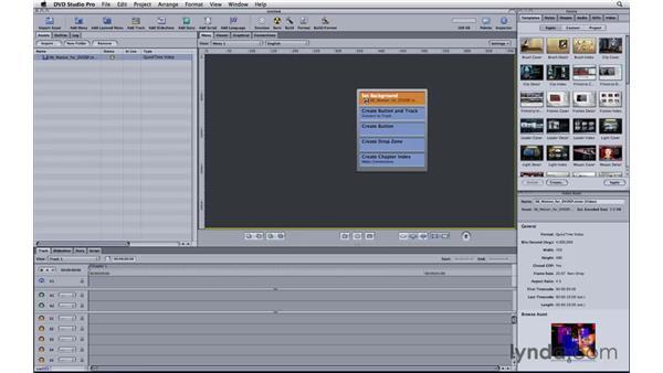 Creating DVD Studio Pro menus: Motion 3 Essential Training