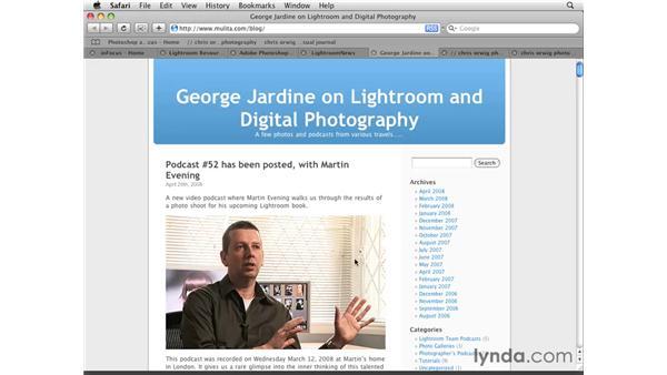 Lightroom resource links: Lightroom 2 Essential Training