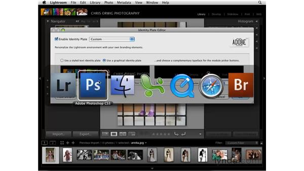 Customizing the Identity Plate and Module Picker: Lightroom 2 Essential Training