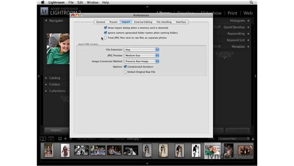 Importing preferences: Lightroom 2 Essential Training