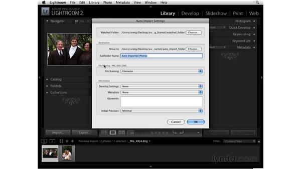 Using Auto Import : Lightroom 2 Essential Training