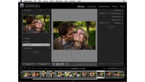 Working in the Grid and Loupe views: Lightroom 2 Essential Training