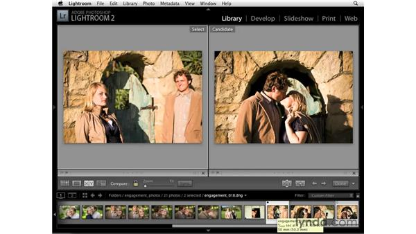 Comparing two images: Lightroom 2 Essential Training