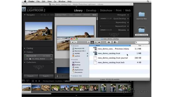 Working with catalogs: Lightroom 2 Essential Training