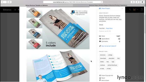 Working with templates: Designing a Brochure