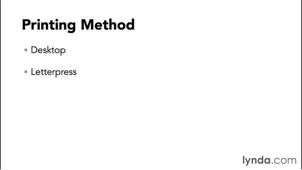 Determining printing method: Designing a Brochure