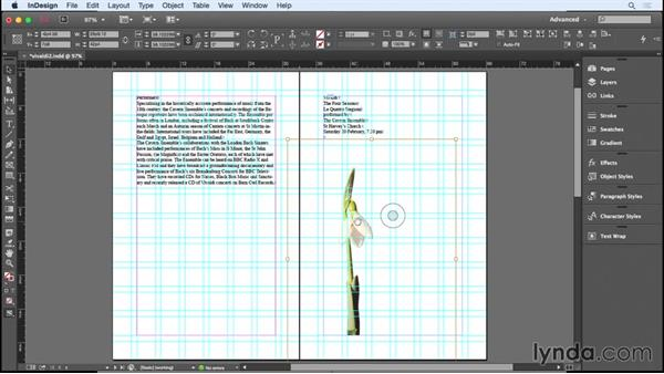 Placing the images: Designing a Brochure