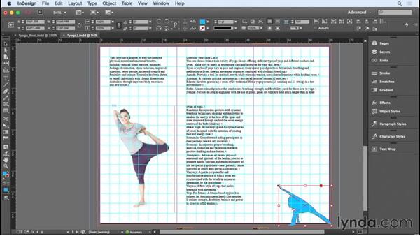 Working with images and choosing a color theme: Designing a Brochure