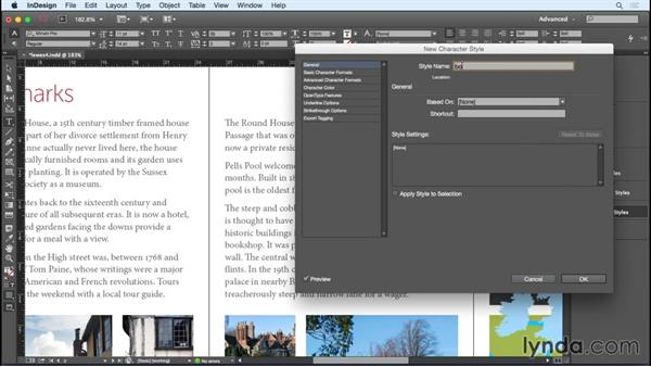 Styling the cover text and supporting text: Designing a Brochure