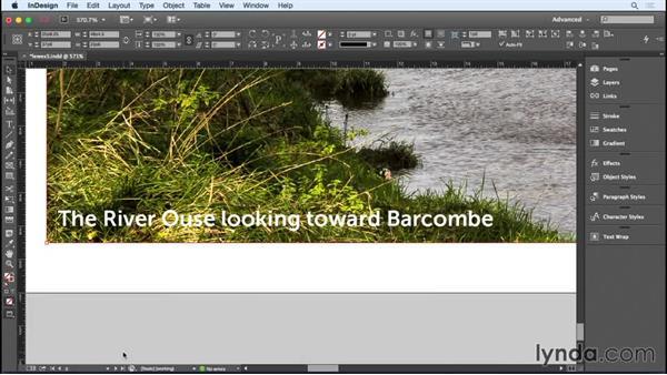 Adding captions: Designing a Brochure