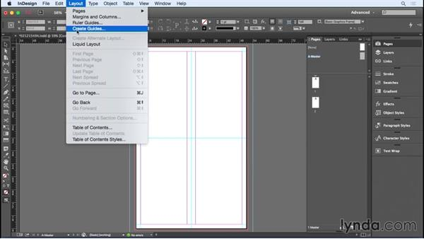 Setting up the broadside template: Designing a Brochure
