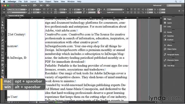 Establishing and breaking the text flow: Designing a Brochure