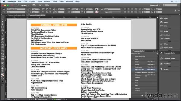 Efficiently formatting the schedule text: Designing a Brochure