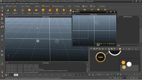 Layout views and panels: Up and Running with RealFlow