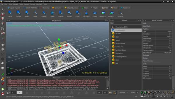 Creating an emitter: Up and Running with RealFlow