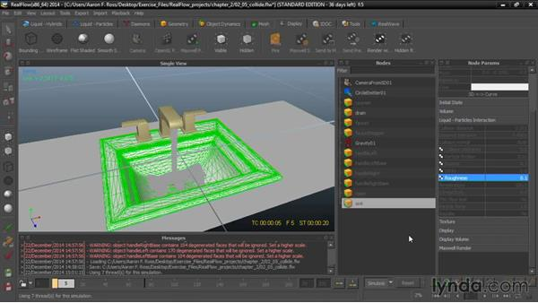 Colliding particles with geometry: Up and Running with RealFlow