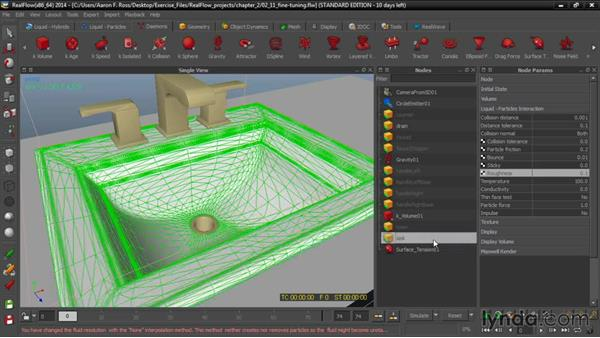 Fine-tuning a particle simulation: Up and Running with RealFlow