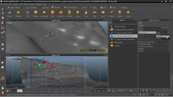 Emitting fluid from an object: Up and Running with RealFlow