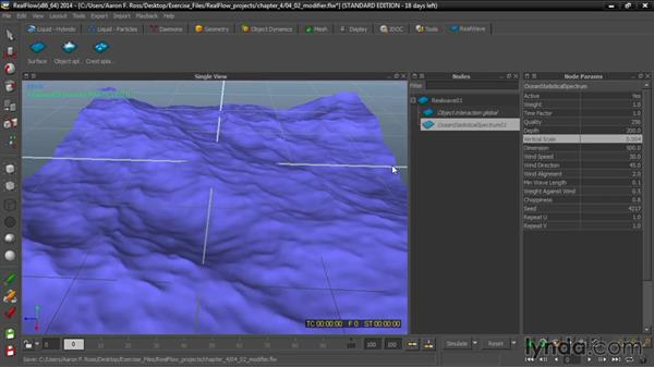 Adding modifiers: Up and Running with RealFlow