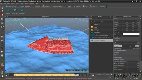 Adding crest splash: Up and Running with RealFlow