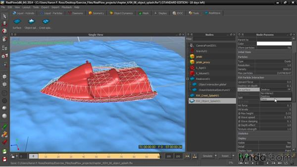 Adding object splash: Up and Running with RealFlow