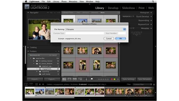 Renaming: Lightroom 2 Essential Training