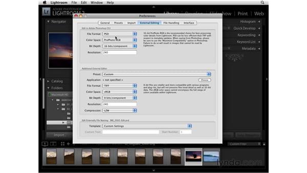 External editing preferences: Lightroom 2 Essential Training
