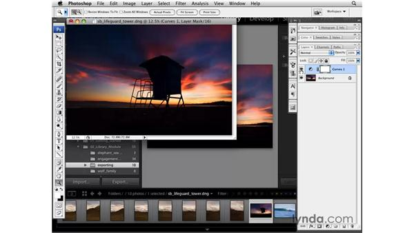 Editing inside Photoshop: Lightroom 2 Essential Training