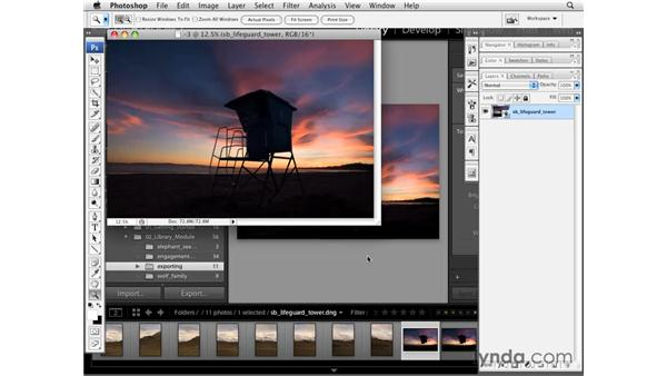 Opening an image as a Smart Object in Photoshop: Lightroom 2 Essential Training