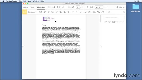 Commenting with the Note tool: Up and Running with Acrobat Reader DC