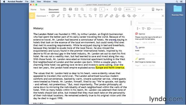 Using the Text Markup tools: Up and Running with Acrobat Reader DC