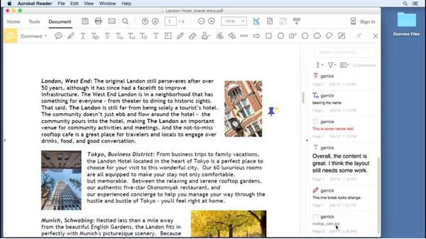 Adding attachments: Up and Running with Acrobat Reader DC