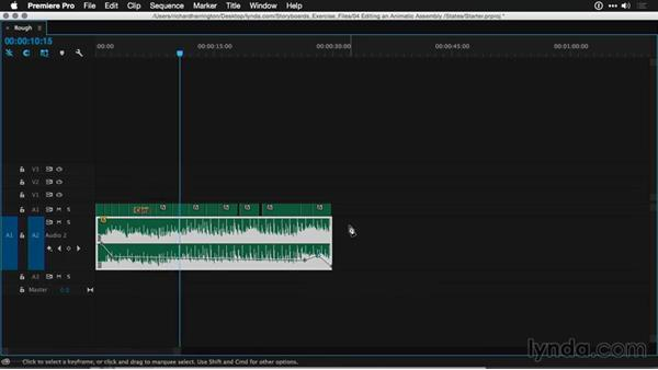 Editing and timing scenes: Motion Graphics for Video Editors: Working with Storyboards
