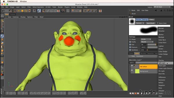 Working with layered files inside BodyPaint: Up and Running with Bodypaint in CINEMA 4D