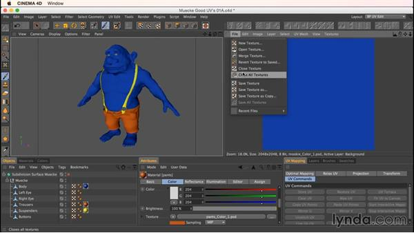 Managing your textures: Up and Running with Bodypaint in CINEMA 4D