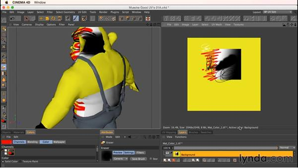 Using the Texture Viewer: Up and Running with Bodypaint in CINEMA 4D