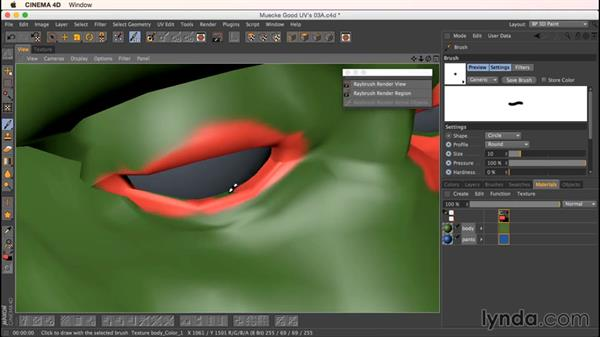 Using the RayBrush: Up and Running with Bodypaint in CINEMA 4D