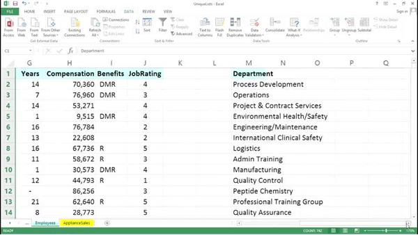 Parsing your data to create unique lists: Excel Tips Weekly