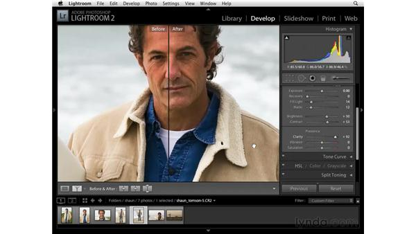 Using the clarity controls: Lightroom 2 Essential Training