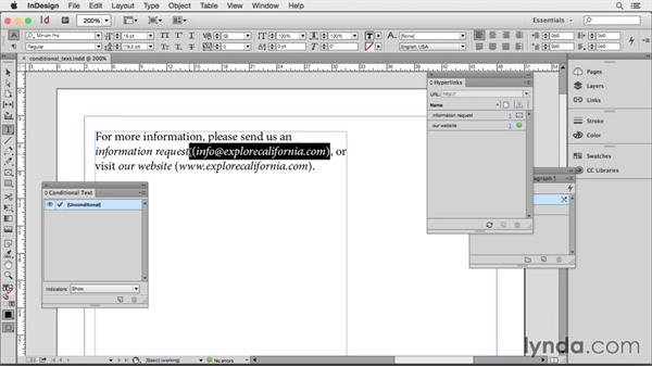 Conditional text: Creating HTML Layouts with InDesign