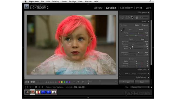 Typical Basic panel workflow: Lightroom 2 Essential Training