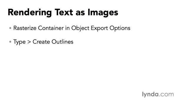 Text styling and font embedding: Creating HTML Layouts with InDesign