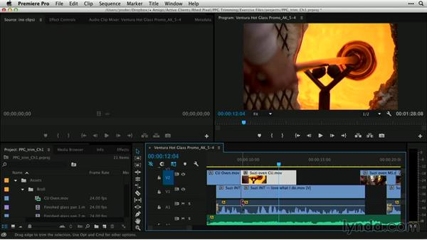 Trimming audio and video: Premiere Pro Guru: Professional Trimming