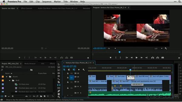 Slip and slide edits: Premiere Pro Guru: Professional Trimming