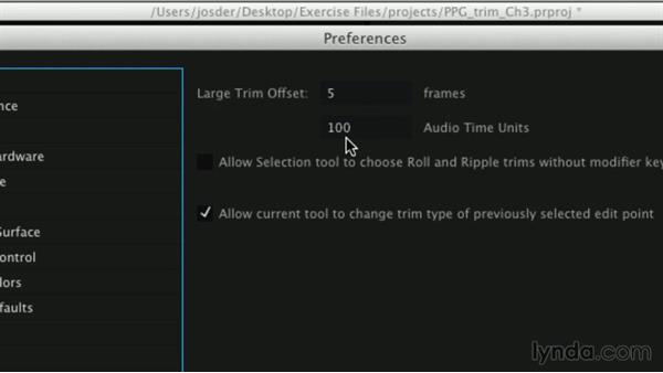 Adjusting Trim Edit mode preferences: Premiere Pro Guru: Professional Trimming